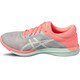 asics Fuzex Rush Shoes Woman midgrey/bay/flash coral